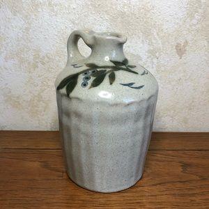 Alex Majeski signed ceramic blueberry jug